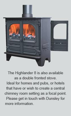 highlander 8 double fronted stove