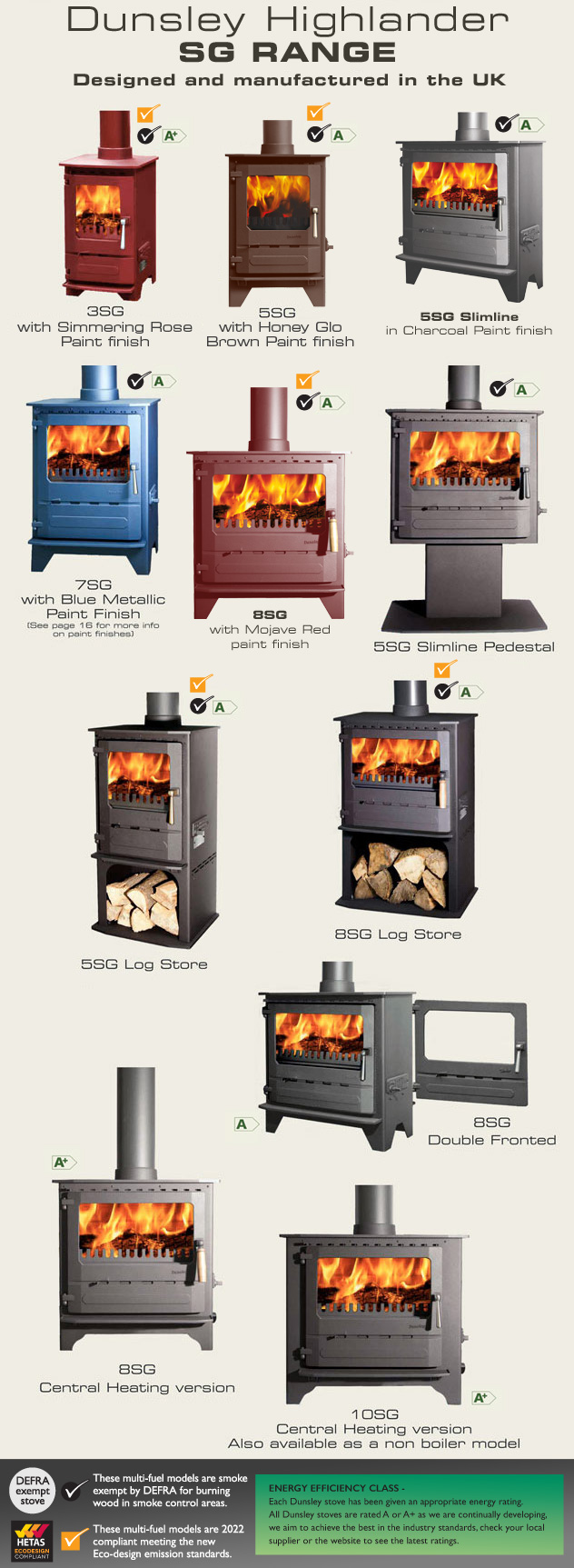 Square Glass Stoves