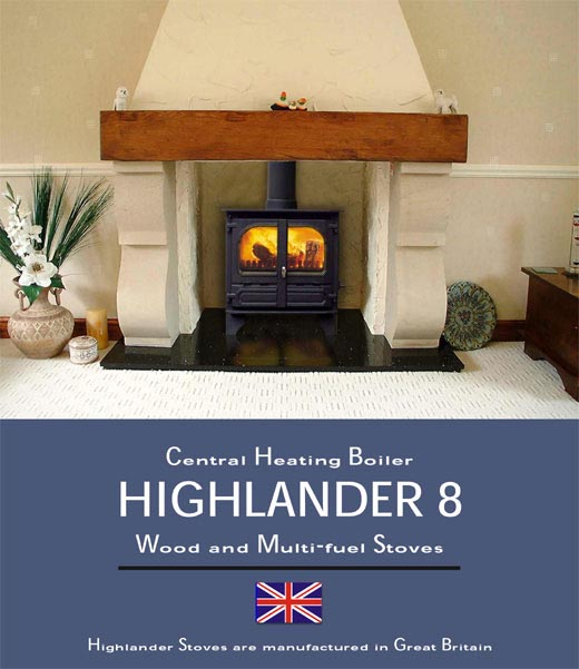 Dunsleyheat Website Highlander 8 Woodburning Multifuel